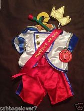 New BUILD-A-BEAR PAWFECT PRINCE OUTFIT w/ SASH CROWN ROSE