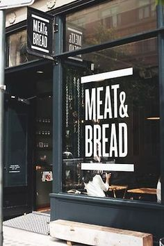Meat  Bread simple storefront window decal  banner retail display inspiration
