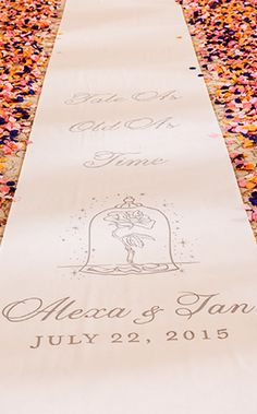 Ceremony Decor: Custom Aisle Runners Ever After Blog | Disney Fairy Tale Weddings and Honeymoon