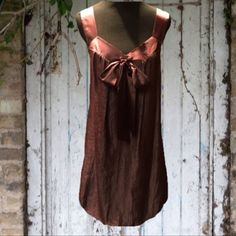 ❌FINAL PRICE❌🎉HP🎉BUBBLE DRESS IN PLUM MAX & CLEO This is a beautiful elegant loose fit dress in deep brownish plum with satin trim around the arms and neck and a satin bow with a bubble hem.. Fully lined and in perfect condition.  HIC-2 Max & Cleo Dresses Wedding