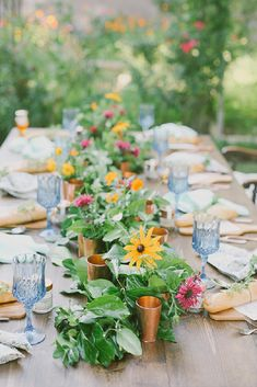 Backyard Farm to Table Dinner Party Table Setting