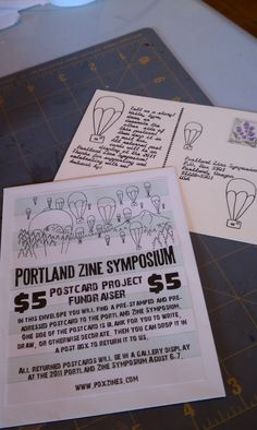 Portland Zine Symposium.    PZS is both the longest, consistent zine conference and the biggest in North America.   Twitter: @pdxzines