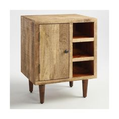 Cost Plus World Market Rustic Wood Cabinet ($150) ❤ liked on Polyvore featuring home, furniture, storage & shelves, cabinets, storage cabinets, book cabinet, rustic wood shelf, book shelf and dark brown cabinets