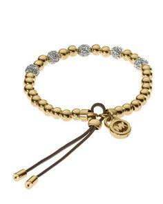 Michael Kors Bead Stretch Bracelet, Golden. Love it! I think it would look great on my wrist!!