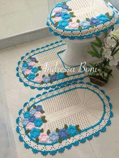 Banyo – Rug making Crochet Bolero Pattern, Crochet Diagram, Crochet Table Mat, Diy Cushion, Crochet Home Decor, Thread Crochet, Craft Sale, Bathroom Sets, Yarn Crafts