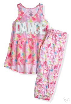 Tie Dye Dance Pajama Set | Justice