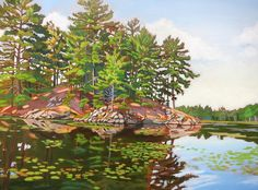 Acrylic on Gallery Canvas Killarney Provincial Park Available at Koyman Gallery Canadian Painters, Canadian Artists, Park Pictures, Cute Pictures, Anna, Amazing Paintings, Landscape Paintings, Oil Paintings, North America