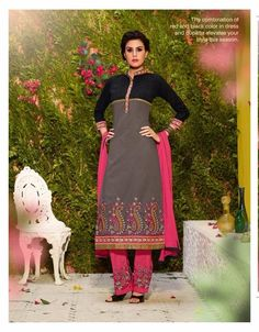 Designer Fastrack Cotton Embroidered #Unstitched #SalwarSuit.at Glamzon Visit- http://www.glamzon.com/Designer-Unstitched-catid-414883-page-1.html