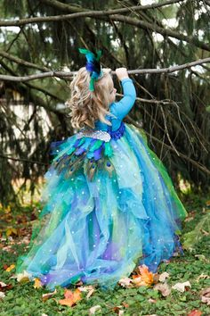 Peacock Princess TuTu Dress by ZoreysBoutique on Etsy, $124.00