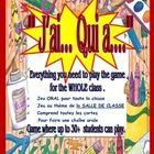 This is a GREAT and FUN game that involves the WHOLE class.  The theme of the game is classroom objects such as: pencils, eraser, paper, notebook.....
