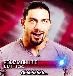 Anytime I see a picture of Roman shirtless! Lol