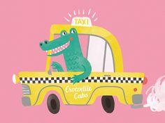 Crocodile Cabs by Jacqui Lee