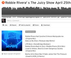 Thank you Robbie Rivera for the #LPR #MORE drop in your April 25 show! https://soundcloud.com/robbierivera/robbie-rivera-s-the-juicy-show-april-25th