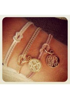 Monogram Knot Bracelets