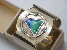 stunning art nouveau silver enamel napkin ring by james fenton 1907