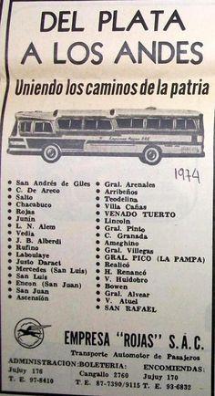Empresa Rojas Autotransporte 1974
