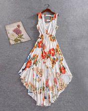 Sexy Women Summer Boho Long Maxi Hawaiian 2 lay Beach Dress SunDress Floral
