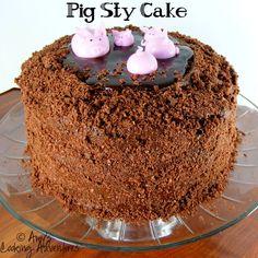 Pig Sty Cake