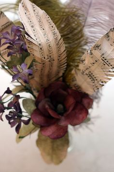 {DIY} Paper Feather Tutorial - Home - The Thirty-Something Bride Wedding Blog