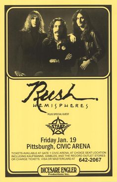 RUSH Hemispheres Concert poster. Where is that damn flux capacitor when you need it!!