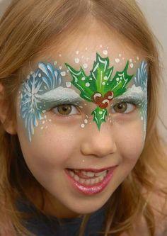 Als je toch een witte kerst wilt schminken is dit een mooi idee voor Kerstmis.