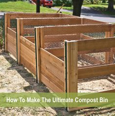 How To Make The Ultimate Homemade Compost Bin...http://homestead-and-survival.com/how-to-make-the-ultimate-homemade-compost-bin/