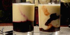 - Panna Cotta Svisker i Portvin - Panna Cotta with Prunes in Port Wine Port Wine, Gelatin, Glass Of Milk, Panna Cotta, Food, Cakes, Jello, Dulce De Leche, Porto