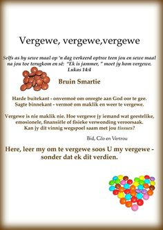 Afrikaans Language, Christian Poems, Sunday School Kids, Hope In God, Afrikaans Quotes, Prayer Board, Little Pigs, True Words, Bible Verses