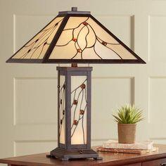 Robert Louis Tiffany Bexley Mission Nightlight Table Lamp - #8C275   Lamps Plus