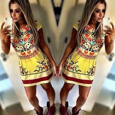 2015 New Women Celebrity Party Dress Sexy Short Sleeve Floral Print Dress Bodycon Mini Dress Casual Dress vestidos de fiesta