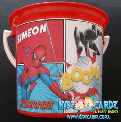 Spiderman Party Bucket