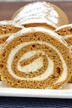 Pumpkin Roll Cake with Cream Cheese Filling Recipe