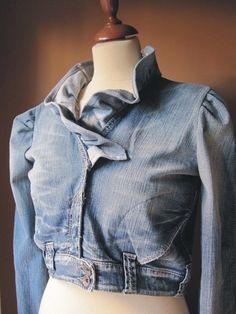 Your Ruffle Denim Jacket. $65.00, via Etsy.