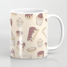 Chocolate Pastry Pattern Coffee Mug by #faerieshop | | #S6GTP ~ Created by one of my friends at Society6 ~