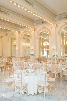 Ballroom Weddings | Elegant Gold Ohio Hotel Ballroom | Photography  by Two Marles | #BallroomWeddings