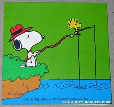 Fishing with Woodstock