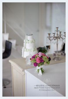 JFLA Flower lesson room.Wedding Bouquet.Wedding Cake.clutch bouquet.in Japan-Tokyo.JFLA東京/世田谷本部華夢フラワーデザインスクールのレッスンスタジオです。