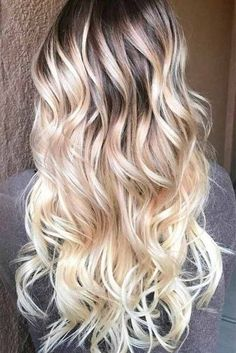 60 most popular ideas for blonde ombre hair color hair dos h Ombre Blond, Best Ombre Hair, Brown Ombre Hair, Hair Color Highlights, Hair Color Dark, Ombre Hair Color, Hair Colors, Blonde Hair Makeup, Balayage Hair Blonde