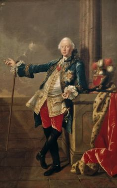 "Portrait of Count Christian Friedrich Carl von Giech (1729-1779) c.1750 by Johann Valentin TISCHBEIN, (German 1715 – 1768).....The count had a great liking for the visual arts and during his reign led an extravagant life at his court in Thurnau. In the painting he is wearing the star of the Order of the Red Eagle with the motto ""Sincere et constanter"" -sincere and steadfast......thanks go to Lucinda Brant..."