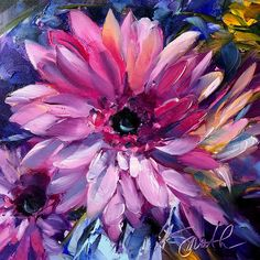 This gorgeous pink gerbera daisy is an original oil painting by Lancaster, Pa artist Kim Smith, will remind you of springtime all year long. Original Oil Painting, Floral Painting, Floral Art, Painting, Oil Painting, Art, Creative Art, Art Wallpaper, Original Art Painting