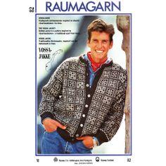 Vossajakka, Rauma-garn someday, when I live with winter again Norwegian Knitting, Knit Jacket, Pattern Books, Tatting, Knit Crochet, Knitting Patterns, Men Sweater, Cardigans, Sweaters
