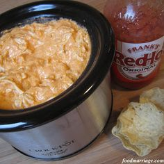 Warm Buffalo Chicken Dip - I may only add a smidgen of hot sauce since I can't eat anything spicy!
