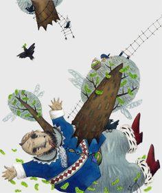 "Svetlana Akateva illustration for ""Baron Munchausen"". Baron, Illustrators, Painting, Painting Art, Illustrator, Paintings, Painted Canvas, Illustrations, Drawings"