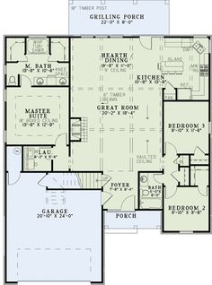 house plan 110 00965 small plan 1572 square feet 3 bedrooms 2 bathrooms - Rectangle House Plans