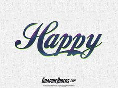 GraphicRiders | Retro style – Happy (free photoshop layer style, text effect)  #graphicriders #freebies #layerstyle #texteffect