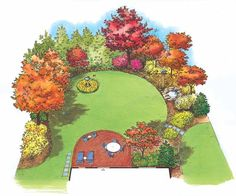 Eplans Landscape Plan - Birds are Attracted to this Delightful Planting from Eplans - House Plan Code HWEPL11446