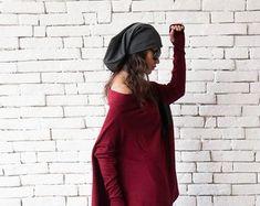 Items similar to Eternity Grey Color Hoodie Mixed Wool Yarn Hood Woman Chunky Hooded Cowl NEW on Etsy Black Linen Pants, Black Harem Pants, Black Capris, Linen Trousers, Maxi Pants, Hooded Cowl, Pantalon Large, Loose Pants, Handmade Dresses