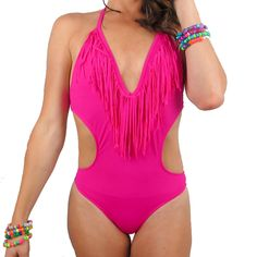 The Fringe one piece swimsuit is the plurfect rave outfit!