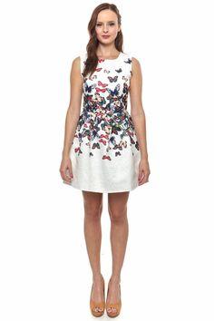 Butterfly print sleeveless mini dress Little Queen, 59014 #LittleQueenBoutique