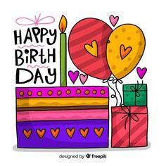 Happy Birthday Logo, Happy Birthday Doodles, Happy Birthday In Spanish, Happy Birthday Wishes Images, Happy Birthday Pictures, Birthday Quotes, Happy Birthday Greetings, Homemade Birthday Cards, Birthday Letters